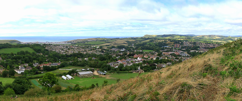 The view over West Bay from Bottom Wood.