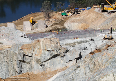 A view of the Spillway from the top looking down Friday July 7, 2017 in Oroville, California.  (Emily Bertolino -- Enterprise-Record)