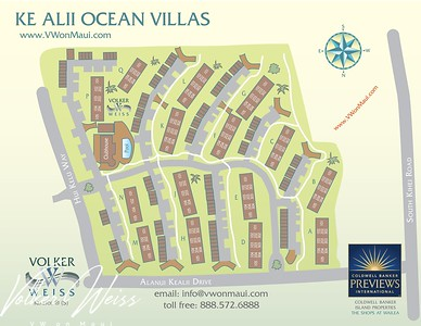 Ke Alii Ocean Villas - Aerial Photos & Plat Maps