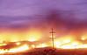 Lava lights up the road around 0600 21 Jul 2002 #KIL2002-5