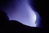Methane gas burns blue from the heat below #KIL2002-15