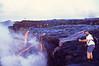 Brian Elms films the new lava at Wilipea on 23 Jul 2002 #KIL2002-3
