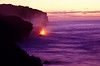 Morning view of lava flowing into ocean on 3 January 2003 at Highcastle #KIL2003-8