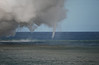 Small lava induced waterspouts at Waikupanaha Ocean Entry 12 March 2009