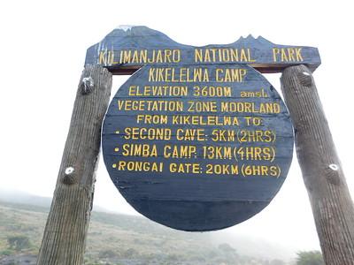 Kilimanjaro, Rongai trek, November 2015
