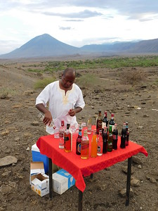 Halisi Natron Camp sundowners