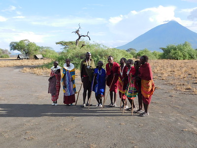 Halisi Natron Camp welcoming committee