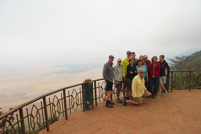 Group photo overlooking the Ngorongoro Crater