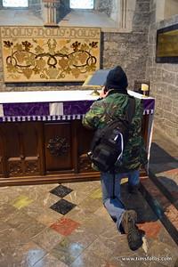 Kevin at prayer