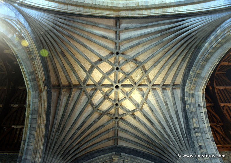 Ribbed Vaulted stone ceiling