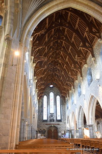Looking down the nave - note ceiling