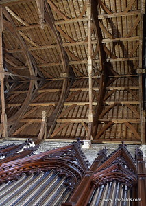 Organ pipes and roof detail