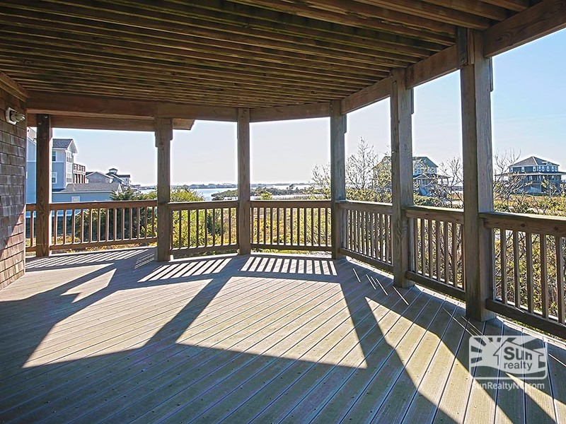 Mid-Level Deck w/ Sound and Sunset Views