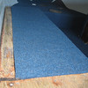 Live Well Cover, covered.  Others parts close to or around it still to be carpeted.