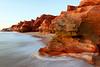 Les falaises rouges de Cape Leveque sur la péninsule de Dampier. Kimberley/Australie Occidentale/Australie