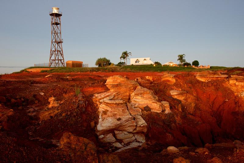 Les falaises rouges et le phare de Gantheaume Point à Broome. Kimberley/Australie Occidentale/Australie