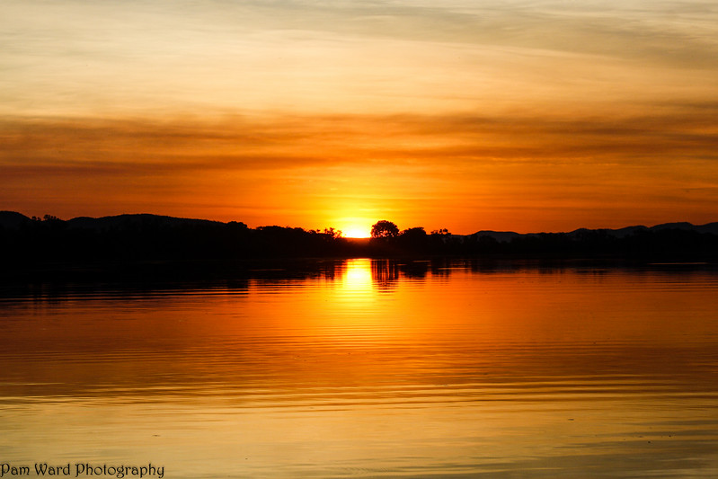 Sunset on Ord River