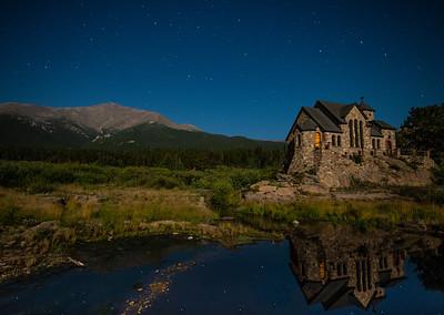 A Moonlit Chapel On The Rock