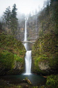 Multnomah Falls Misty Morning