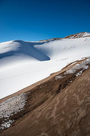 Snow Capped Sandy Peaks