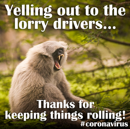 Yelling out to the lorry drivers... Thanks for keeping things rolling!
