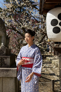 Young Japanese Posing in Kimono