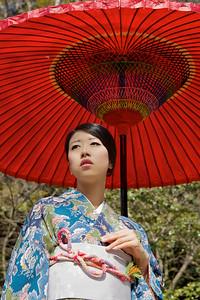 Beautiful Woman with Kimono
