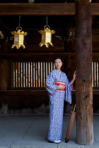 Young Japanese dressed in Kimono