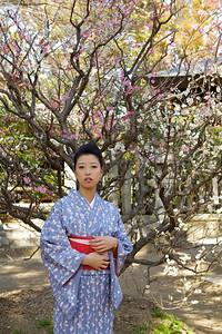 At Kitano Tenmangu Shrine in Spring