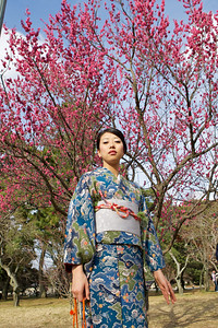 Beautiful Woman with Kimono