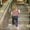7/5/2010 - swinging her arms back n' forth as she climbs the stairs... it was adorable...