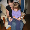 """10/12/2009 - reading with my """"Auntie"""" Carina..."""