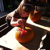 10/2/2011 - Painting pumpkins.
