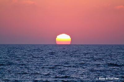La Jolla sunset over the Pacific Ocean