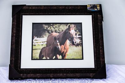 Item #1 Framed Horse Print