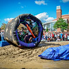 The Mousetrap wheels its way through the Mud Course at the first ever Kinetic Race in Lowell. SUN/Caley McGuane
