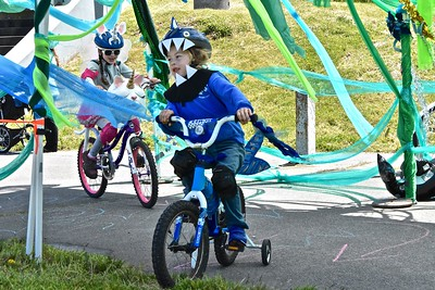 Unique safety gear was par for the course for the Kinetic Classic on Sunday. (Jose Quezada - For the Times-Standard)