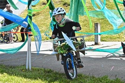 Competitors in the Kinetic Classic were dressed in a variety of costumes as they sought glory on the kid-centric course. (Jose Quezada - For the Times-Standard)