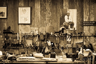 King Ranch -Saddle Maker's work bench