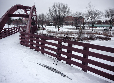 Made it to the Tridge. The turnaround point of today's ski adventure. Total miles: 7.1 round trip.