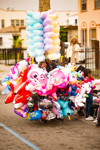 Toy and cotton candy vendor