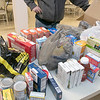 The Knights of Columbus Council 99 on Electric Avenue in Fitchburg held a food drive on Saturday, March 21, 2020. They brought the food they collected to St. Francis of Assisi, on Sheridan Street in Fitchburg, who have had a food pantry on Friday's from 12 p.m. to 2 p.m. Their food pantry at the church has been around for over 40 years. Some of the food dropped off at the KoC. SENTINEL & ENTERPRISE/JOHN LIOVE