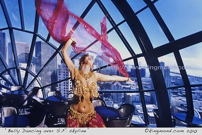 Belly Dancing over S.F. Skyline