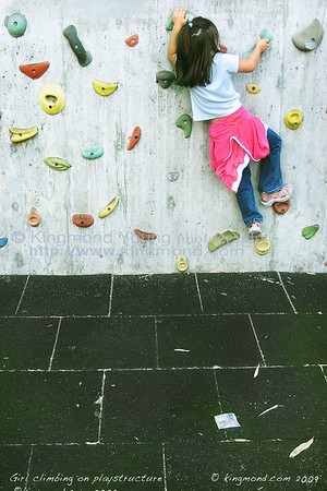 Girl Climbing on Playstructure