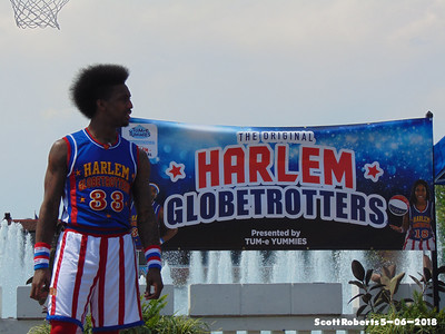 "The Globetrotters I grew up watching on Saturday Mornings, like Meadowlark Lemon and Fred ""Curly"" Neal have since retired and it's a younger mans game now, like Bull here."
