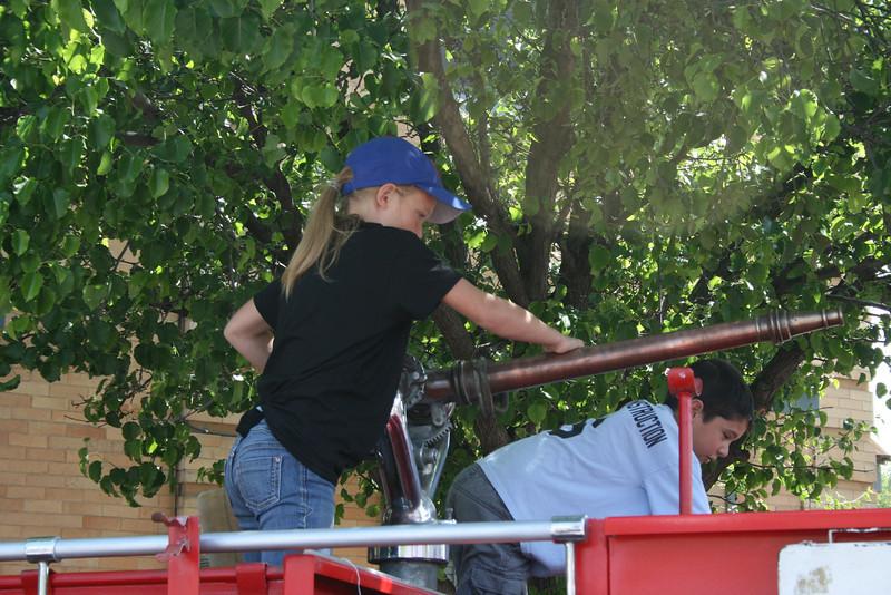 Allyson on the Firetruck