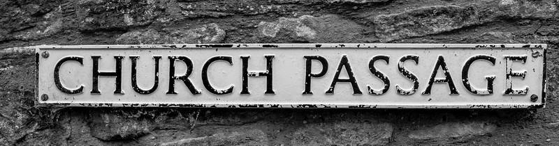 Cast Iron Sign, Church Passage, Kingsthorpe, Northampton