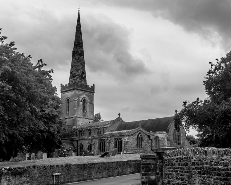 Church yard, Saint John the Baptist,  Kingsthorpe, Northampton