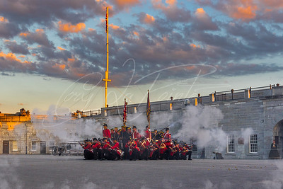 Fort Henry's  Sunset ceremony.