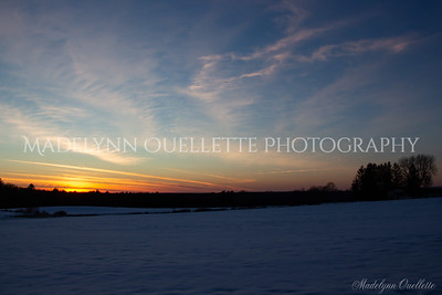 Sunset across a Snow Covered Field2